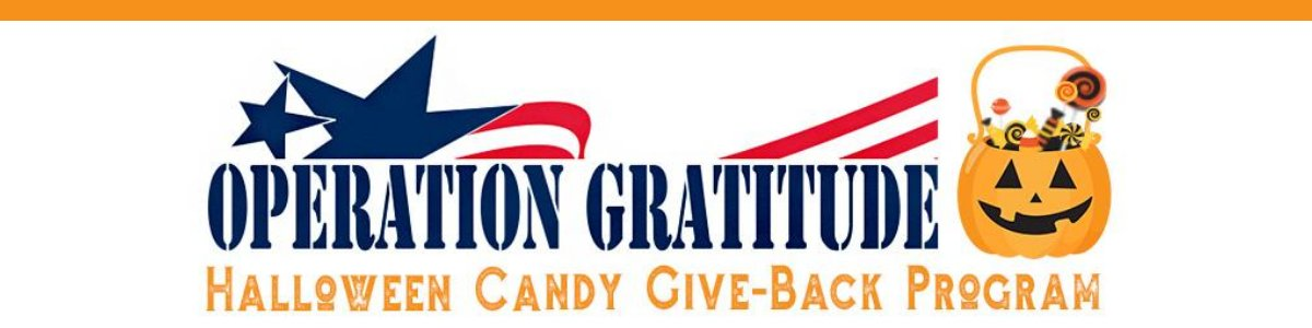 If you're wondering what to do with your leftover Halloween candy,  Operation Gratitude has a great program to sweeten up care packages for our troop's overseas.