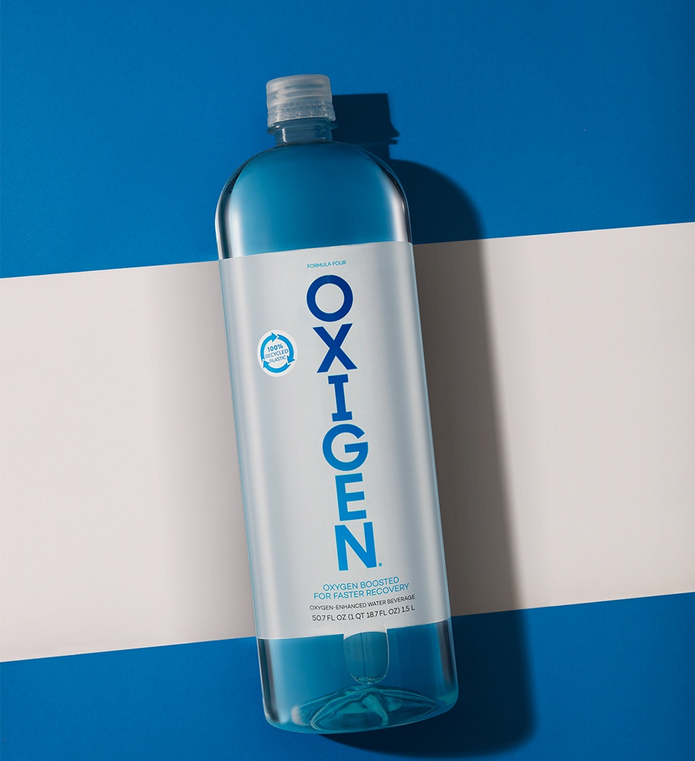 Unlike most bottled waters that are only 'recyclable', OXIGEN is also made from 100% recycled plastic - healthy for body and planet. #DrinkOXIGEN