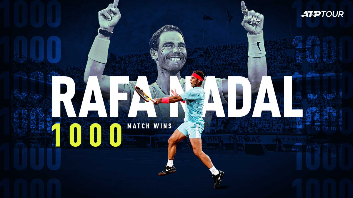 Game. Set. Match. (x1000)  Congratulations, @RafaelNadal 👏  #Rafa1000