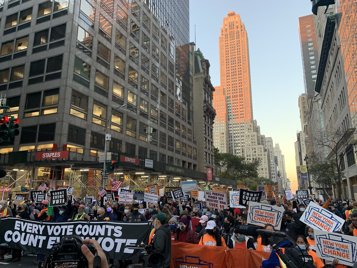 Amazing! Massive march coming down 5th ave to #CountEveryVote
