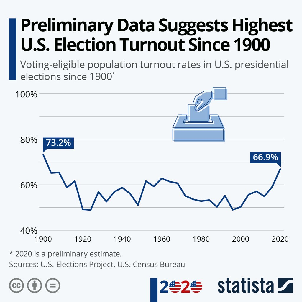 participación elecciones USA 2020