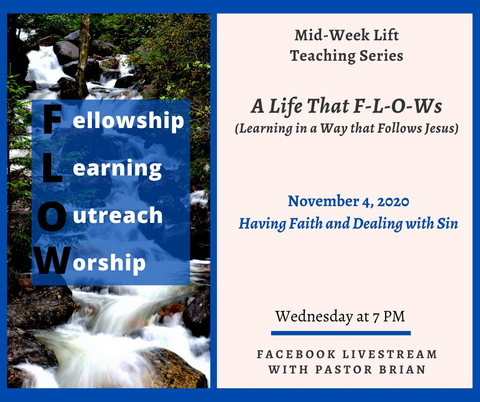 Join Pastor Brian tonight at 7 PM via Livestream. 🧡✝️🙏 #umc #fumcoviedo #livestream #midweeklift #flow #havingfaith #dealingwithsin https://t.co/9V6x542qaF