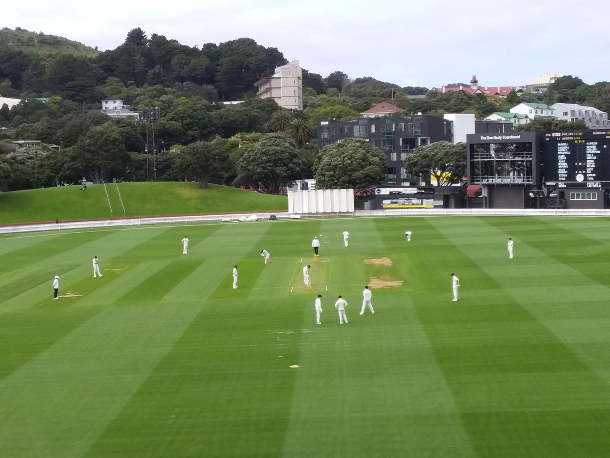 The Basin Reserve, Wellongton v Otago, first day.