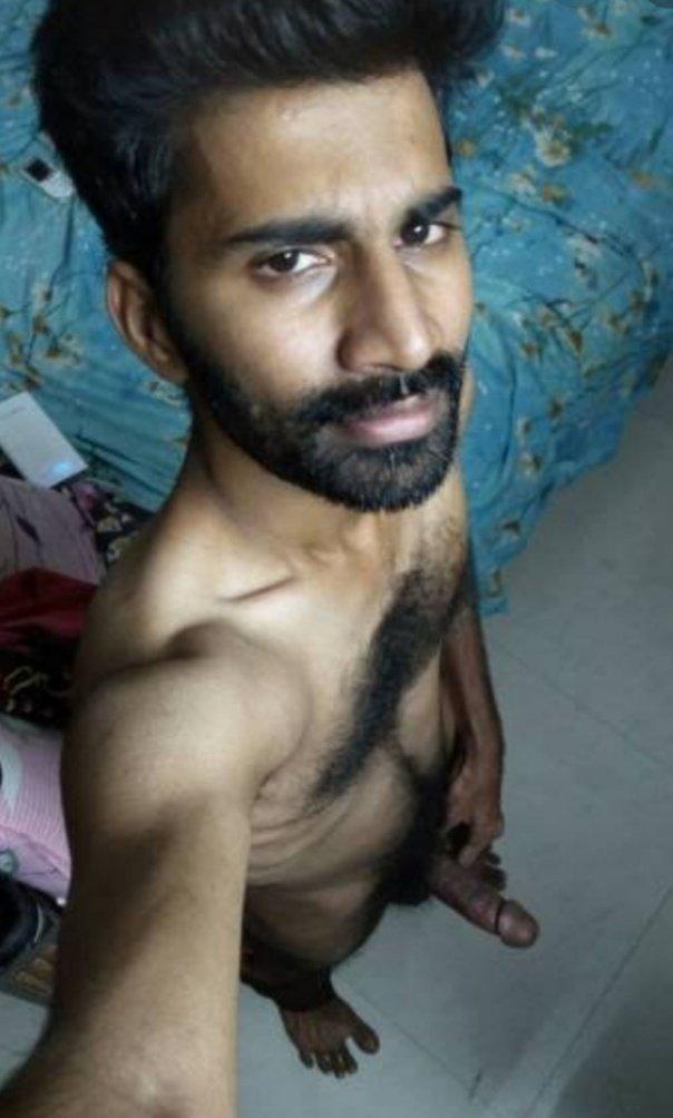 Mallu gay hunk shows rock hard in lungi outdoors