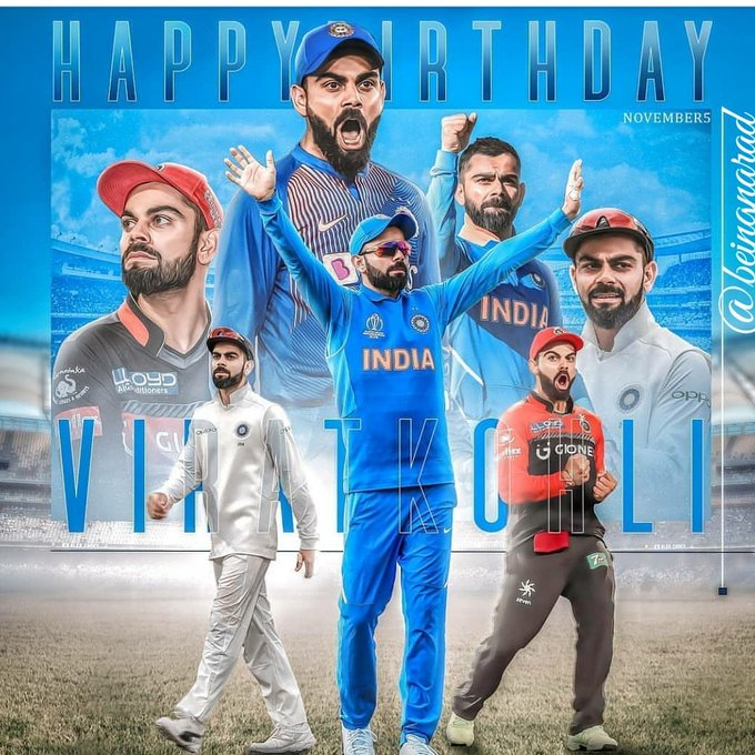 Happy birthday to one and only the undisputed king of cricket Virat kohli