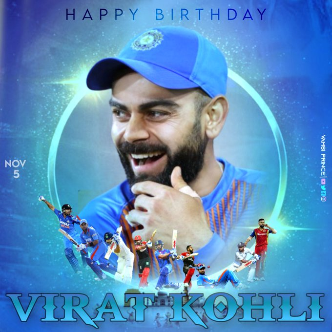 Wishing a very Happy birthday to our Run Machine- VIRAT KOHLI...