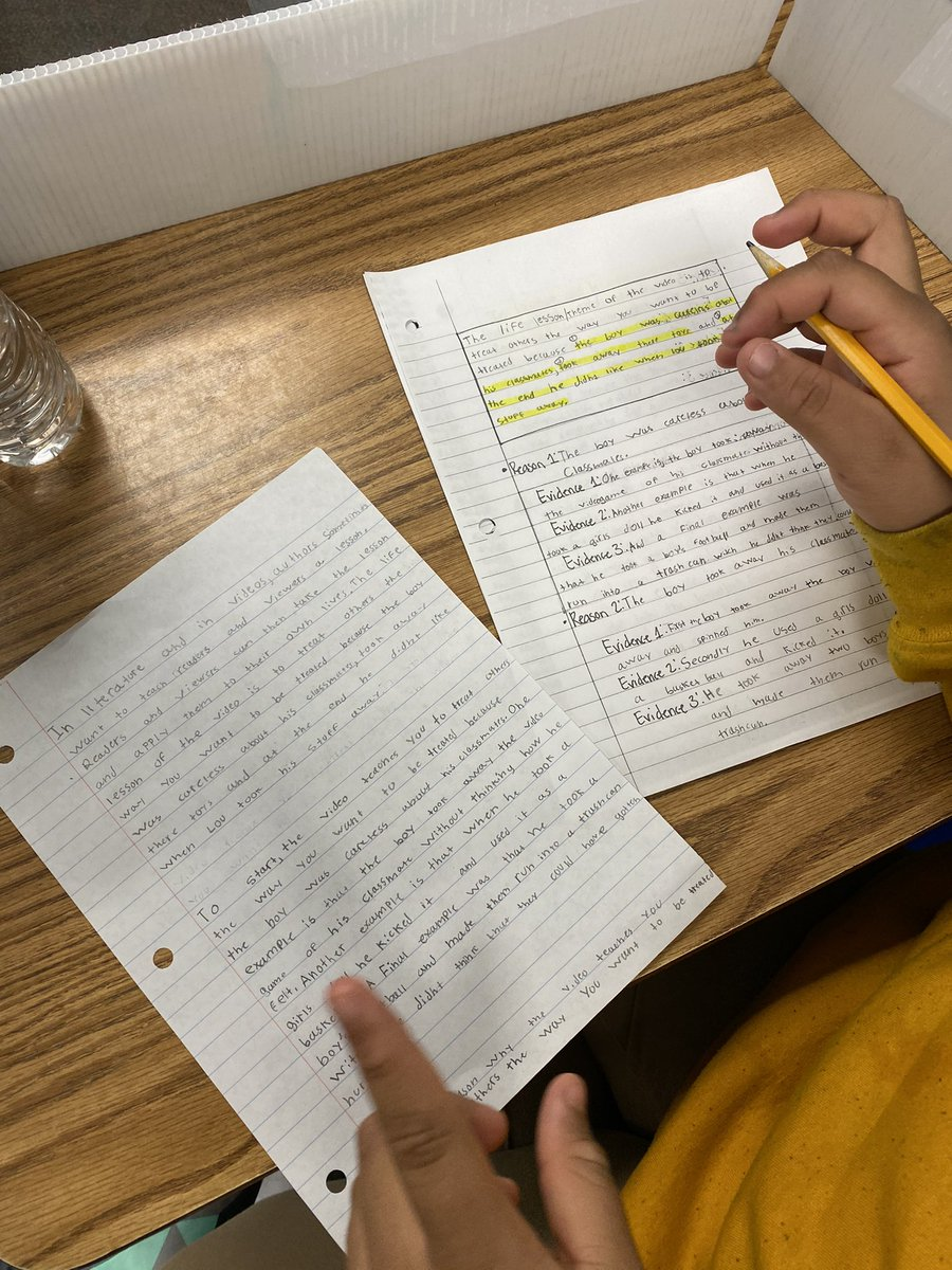 Students using their plans to draft their literary essays! #centralisawesome