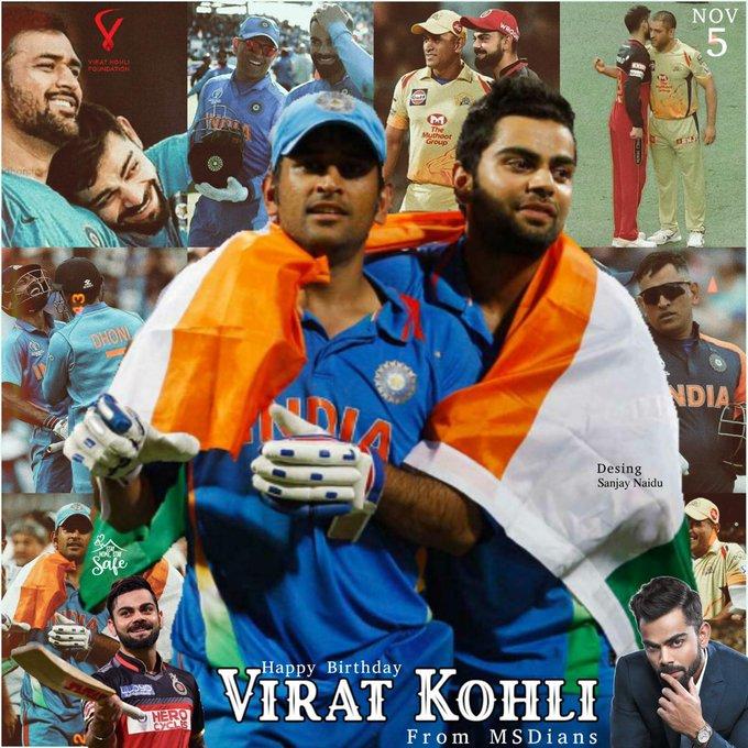 Happy Birthday Virat kohli On behalf  of Dhoni fans ..