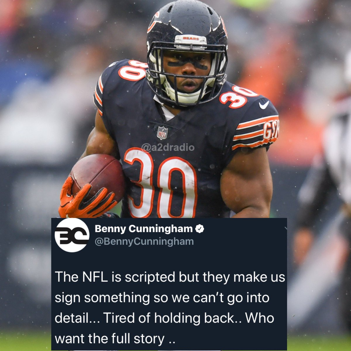 Former NFL player Benny Cunningham admits the NFL is scripted but cannot go into full detail because of an NDA he signed with the league. https://t.co/2NlS4jRlXN