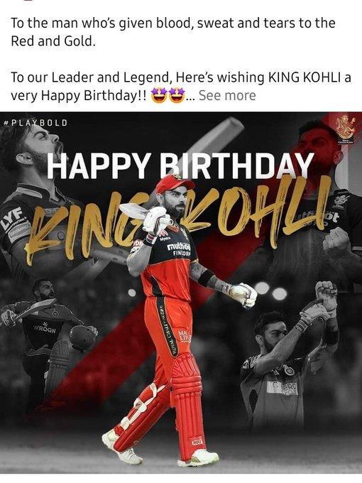 Happy birthday champ virat kohli