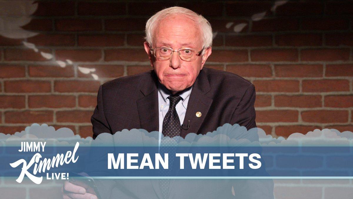 An all-new, all-politics edition of #MeanTweets! @BernieSanders @EWarren @TedCruz @AndrewYang @Scaramucci @SpeakerPelosi @CoryBooker @JohnKerry @AlFranken @JohnKasich @PeteButtigieg @AdamSchiff @MikeBloomberg
