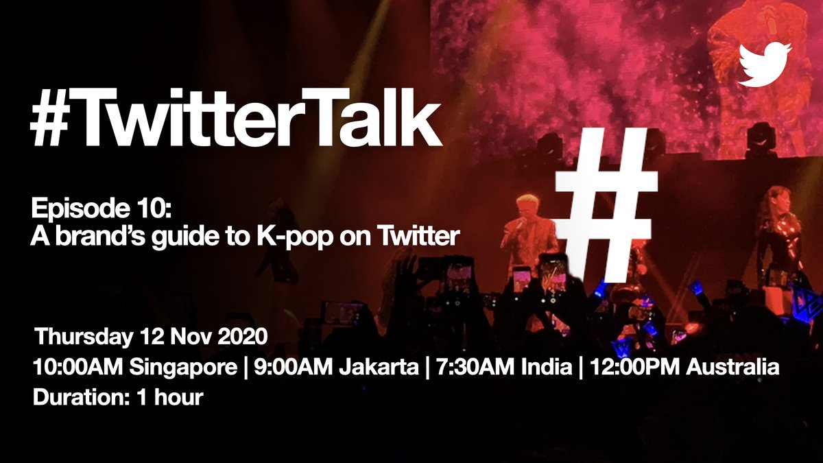 On #TwitterTalk🎙️ Episode 10, #KpopTwitter takes centre stage.  Come along and learn from our #Kpop experts about:  ✔️ What's K-pop? ✔️ #KpopTwitter community: their passion & behaviours  ✔️ Content they love ✔️ What it means for brands  Register now:
