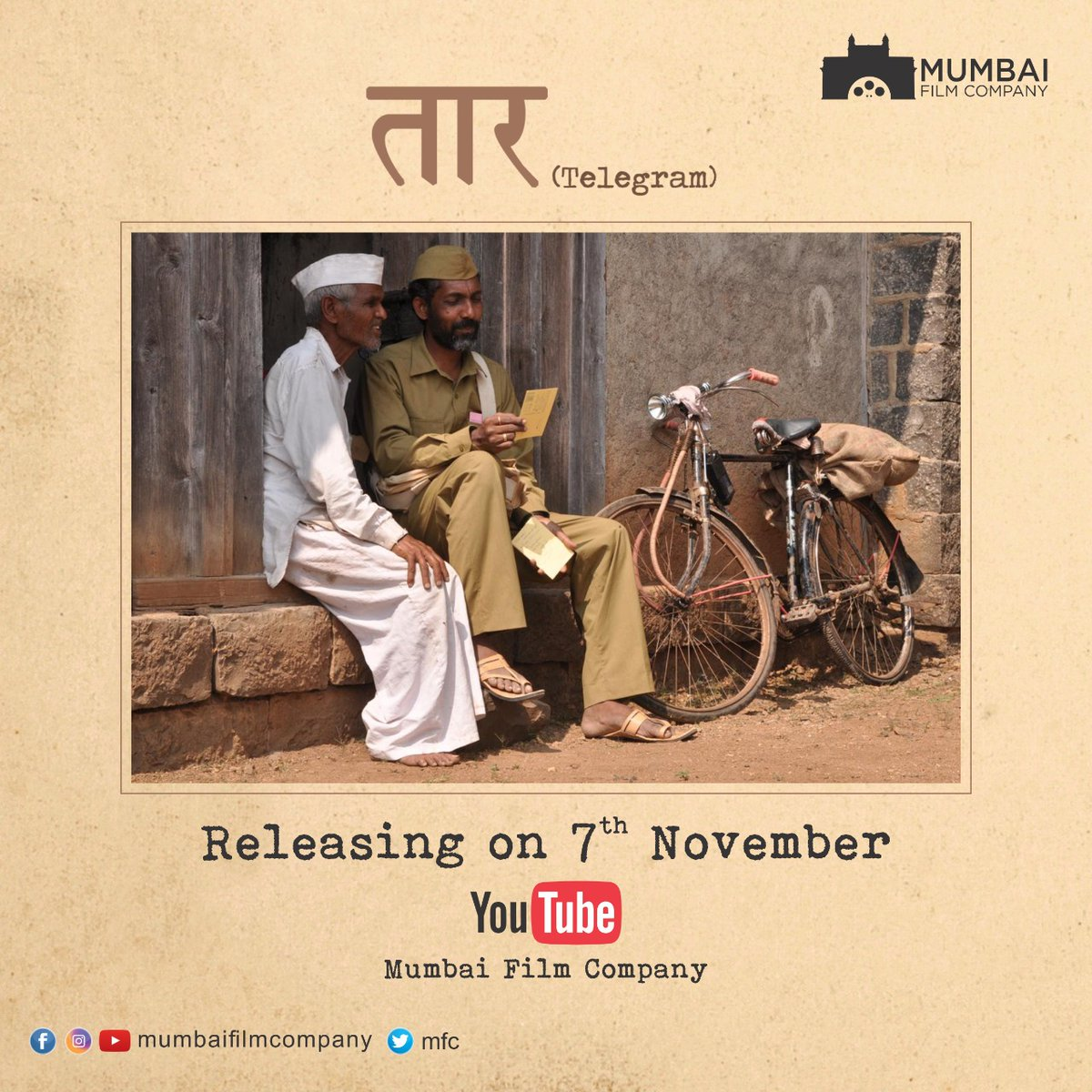 Taar is on its way!  Releasing in 2 days on Mumbai Film Company's YouTube Channel.    . . . #7thNovember #MFCYouTube #Taar
