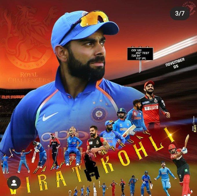 Happy birthday    virat kohli king of the world cricket