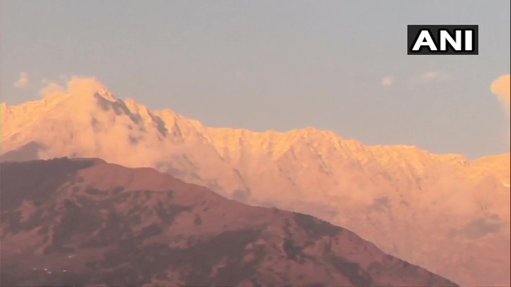 snow in Dhaauladhar range