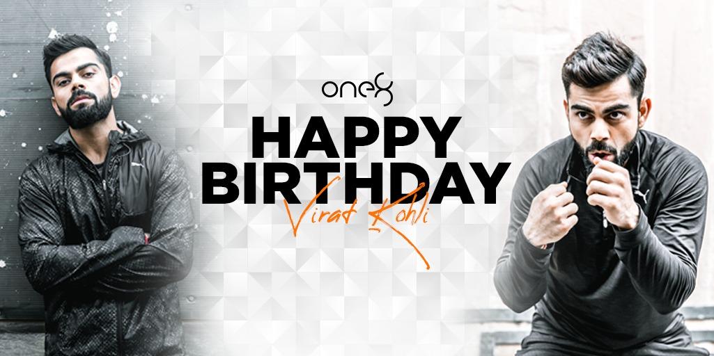 Happy Birthday @imVkohli 😁🎂  May you continue to inspire us in everything you do. Have an amazing year ahead. 🙂  #HappyBirthdayViratKohli #one8