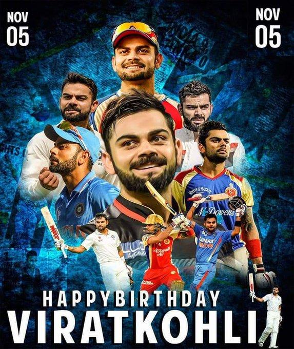 Happy birthday to Indian skipper Virat Kohli.....legend chasemaster Run-machine....