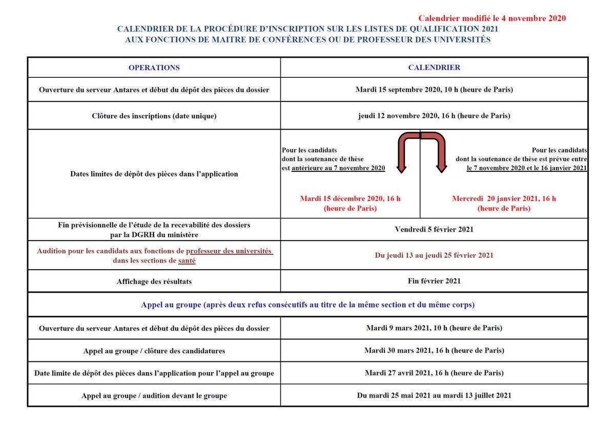 Calendrier Qualification Maitre De Conférence 2021 Aymeric Bouchereau (@BouchereauA) | Twitter