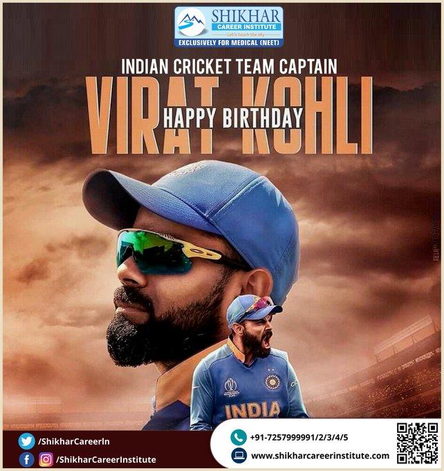 Happy Birthday Indian Cricket Team Captain Virat Kohli.