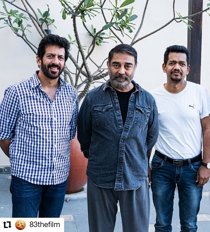 #83thefilm  @83thefilm • • • • • • Taking the grandness of 83 to the next level! The mega superstar of India, @ikamalhaasan will be presenting the film in Tamil version. #ThisIs83