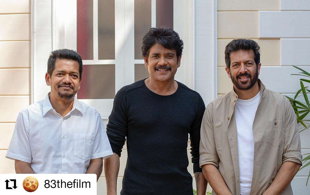 #83thefilm @83thefilm • • • • • • Taking the grandness of 83 to the next level! The mega superstar of India #NagarjunaAkkinieni will be presenting the film in Telugu version. #ThisIs83
