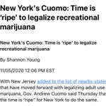 Image for the Tweet beginning: #NewYork 🍏 #Cannabis  Yes, hurry before