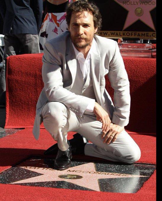 Alright, alright, alright! Happy Birthday to Walk of Famer Matthew McConaughey