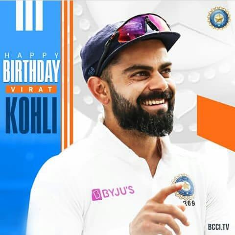 Happy birthday virat kohli ( cheeku ) ,