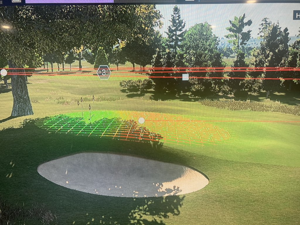 The false front on 6 north is wild! It's an original green from 1952, but the hole teed off from the corner of the dog leg until the late 1960's.   Pretty easy to build into a video game, just build a huge hill and put a little spot for a pin on the top 😂 https://t.co/GnOr7Gyeqh https://t.co/vyKKzZlmzh