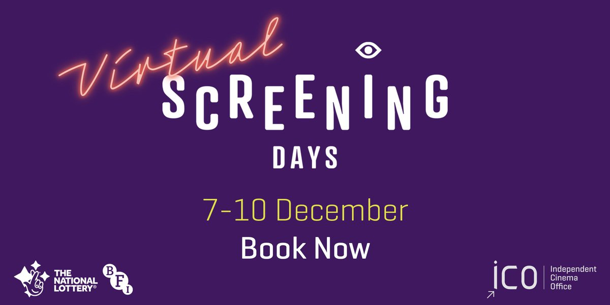 Screening Days is going virtual!   Join us from 7-10 December for three days of screenings, panel sessions and discussions that will help cinemas in the new reality we find ourselves in. Register now: