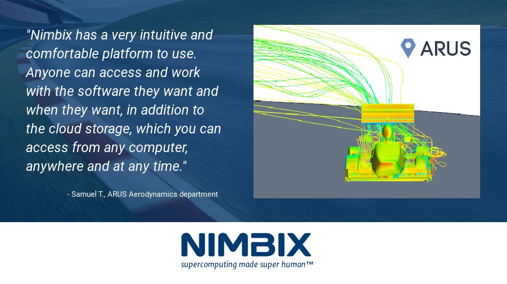Learn how @arusfssevilla #Aerodynamics department used #STARCCM+ on the @Nimbix #Cloud to perform more #simulations in less time and get better accuracy of results: https://t.co/yg4HiwPkXh https://t.co/aelDPx2BcN