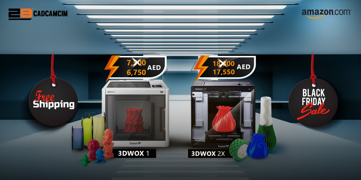 The black Friday offer is here! Now, you can get the unmistakable 3D printer (Sindoh WOX 1 or WOX 2X) with free shipping and with a starting price of 6750 AED only! Get yours now through https://t.co/1zpmdg6kae or through our webpage: https://t.co/GZQDckGVFf https://t.co/2huKQPCpxh