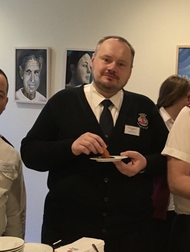This is Pavel/Pasha, a Salvation Army officer in Russia, at a theolog. confer. Wittenberg 2017. He was promoted to Glory 4 Nov. He traveled on a bus when driver collapsed, the bus got out of control. Pasha steered it to the side and prevented further deaths but got killed himself