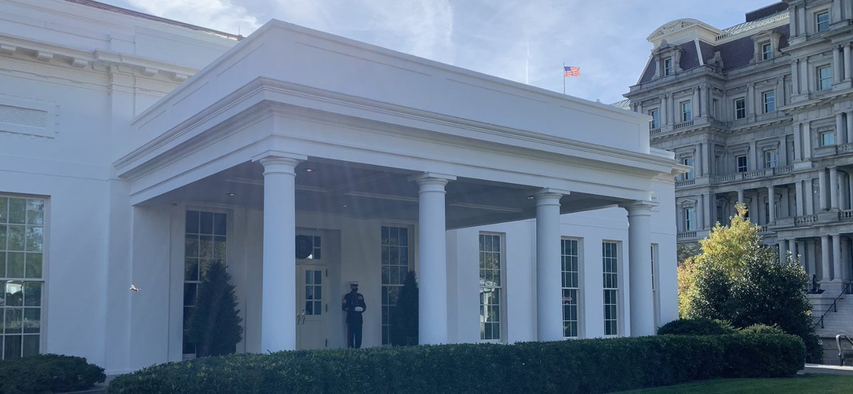 President has entered the West Wing #election2020