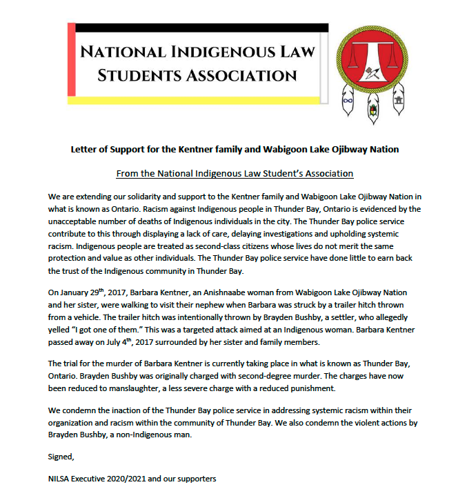 We are extending our solidarity and support to the Kentner family and Wabigoon Lake Ojibway Nation in what is known as Ontario. We condemn the inaction of the Thunder Bay police service in addressing systemic racism within their organization. instagram.com/p/CHOF4QGhDFG/…