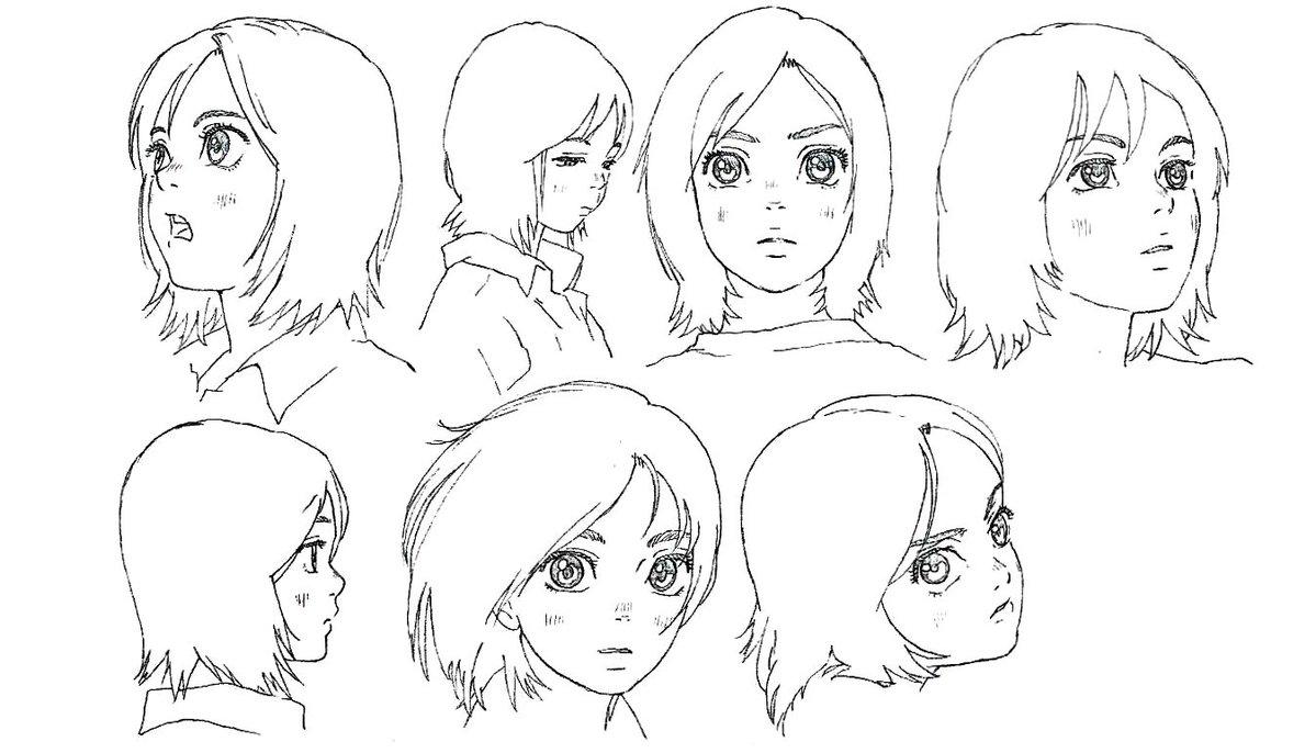 Model sheets for Children of the Sea (2019), dir. Ayumu Watanabe, Studio 4°C Characters designed by Kenichi Konishi
