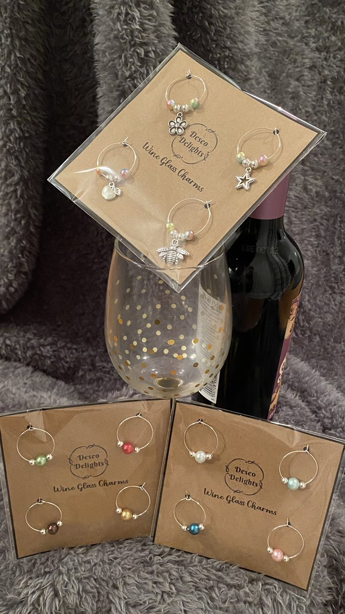 @Mr_P_123 Wine glass charms with a nice bottle of something?! 🍷