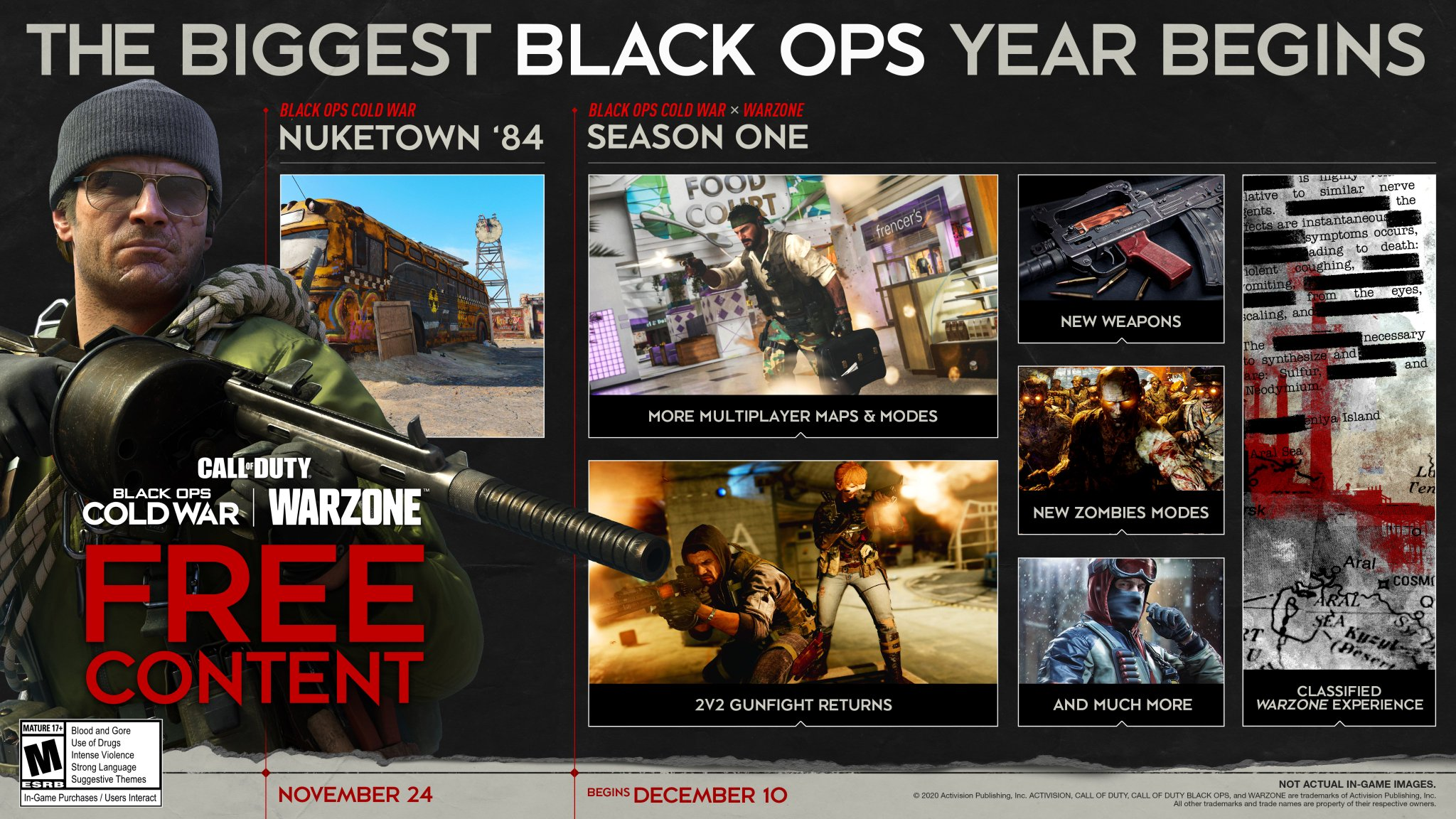 Black Ops Cold War and Warzone Season 1 content roadmap revealed
