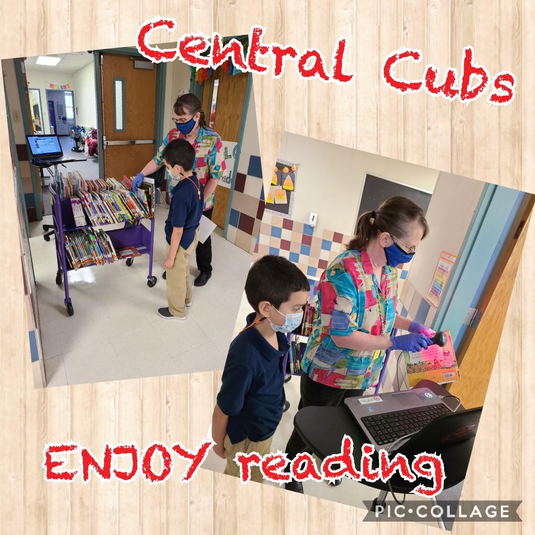 Cubs ❤ reading great 📚 @CFBISD @drdanawest @susanmachayo @kneupperb