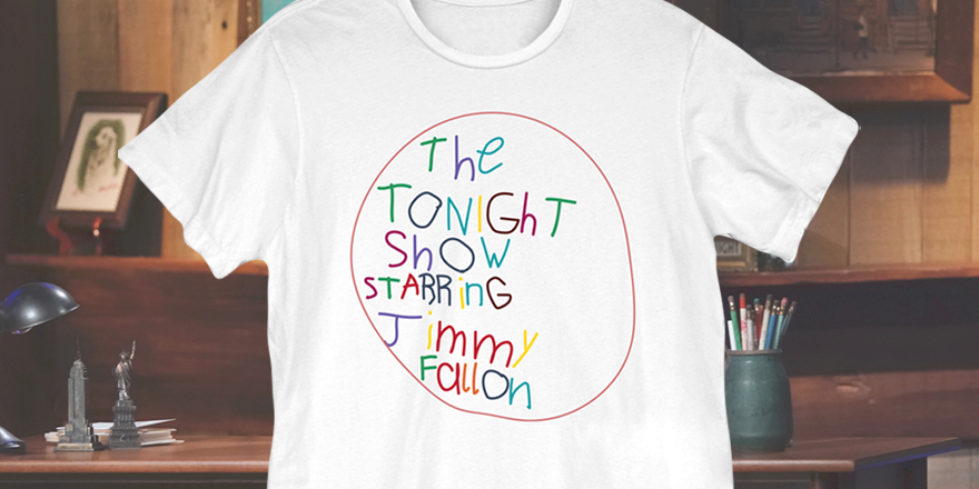 Introducing our #FallonTonight At Home Edition tee - featuring the logo designed by Jimmy's daughter, Winnie! Available to order now at  💙