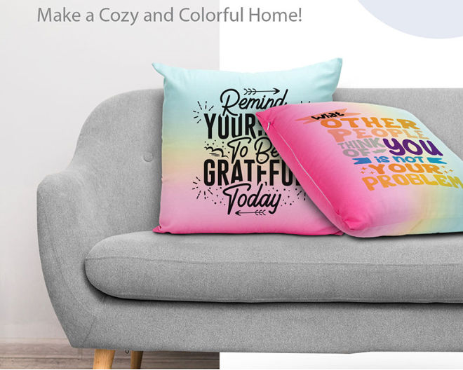 New arrival gradient color pillowcase, customize it with a cute picture, make your home colorful and cozy! #cushion #couchparty #FridaysForFreedom #sublimation #printmaking #wholesale #BizHour #womaninbiz #SupportSmallStreamers #Artistoftheyear #gift #cuddles #design
