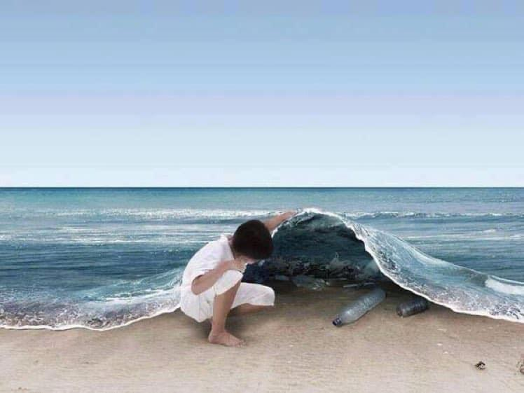 An extraordinary image with a very serious message.