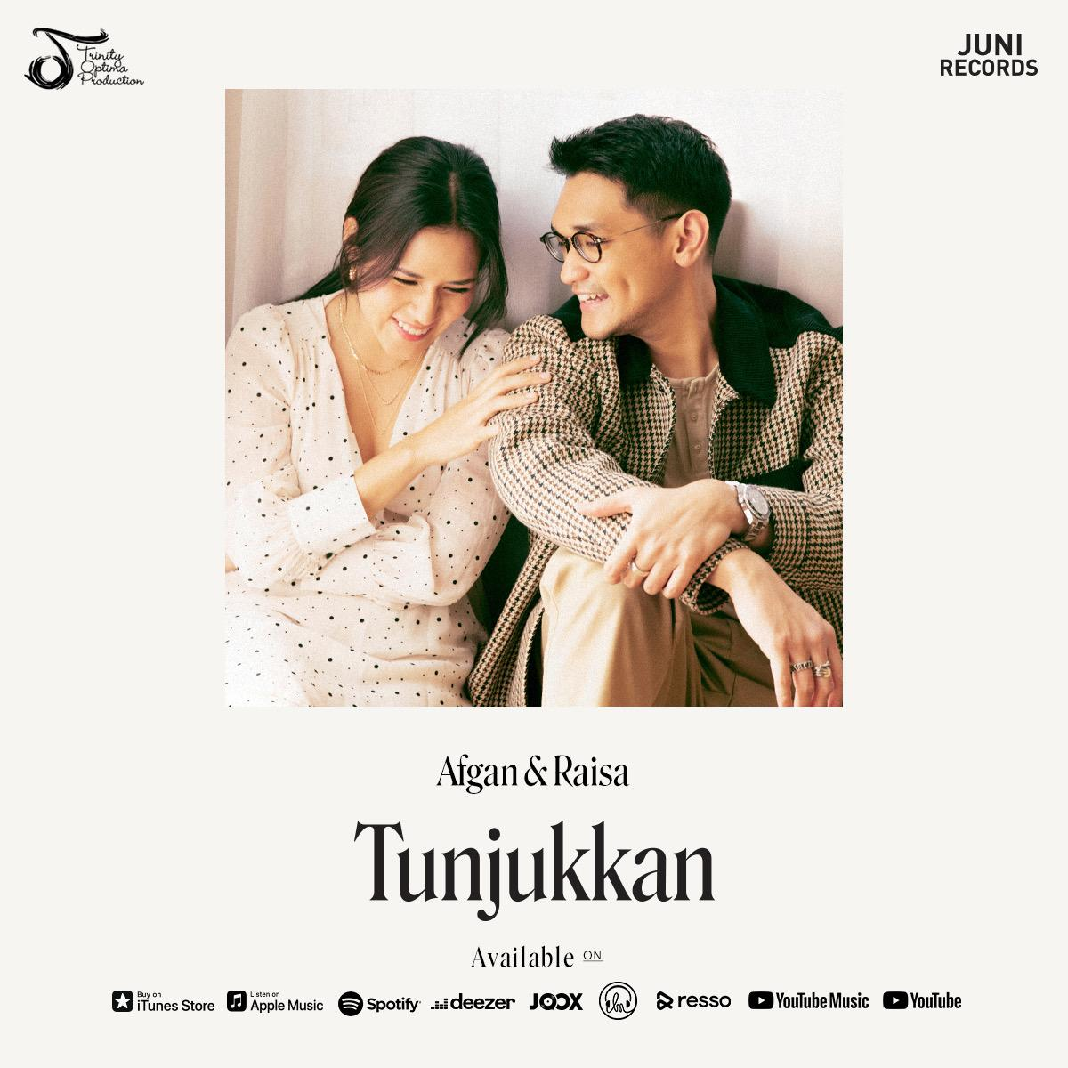 My newest single with @raisa6690 'Tunjukkan' is available now on all digital streaming platforms. Go listen now and let me know what do you think.   #afganraisatunjukkan