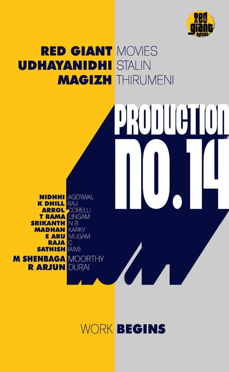 Super Excited to join the Biggie with @Udhaystalin #MagizhThirumeni 🦋@RedGiantMovies_ #ProductionNo14  @ArrolCorelli @dhillrajk #NBSrikanth #Ramalingam @madhankarky   @teamaimpr