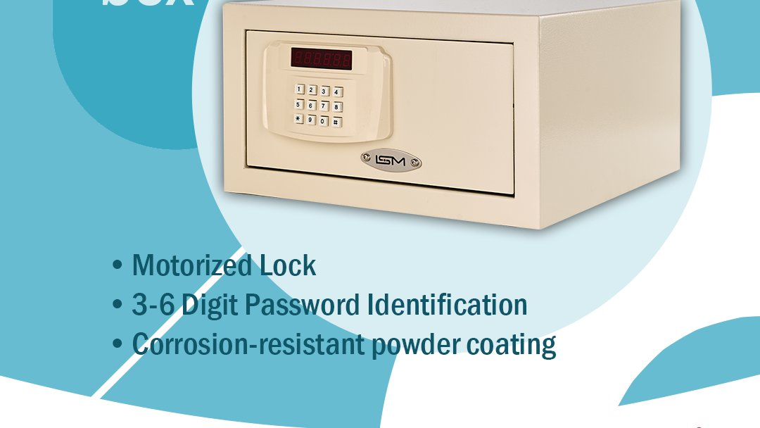 Secure your valuables with ISM Safebox  *Motorized Lock  *3-6 Digit Password Identification  *Corrosion-resistant powder coating  #security #safebox #hotelsecurity #hotelequipment https://t.co/0nK4tlNDxI