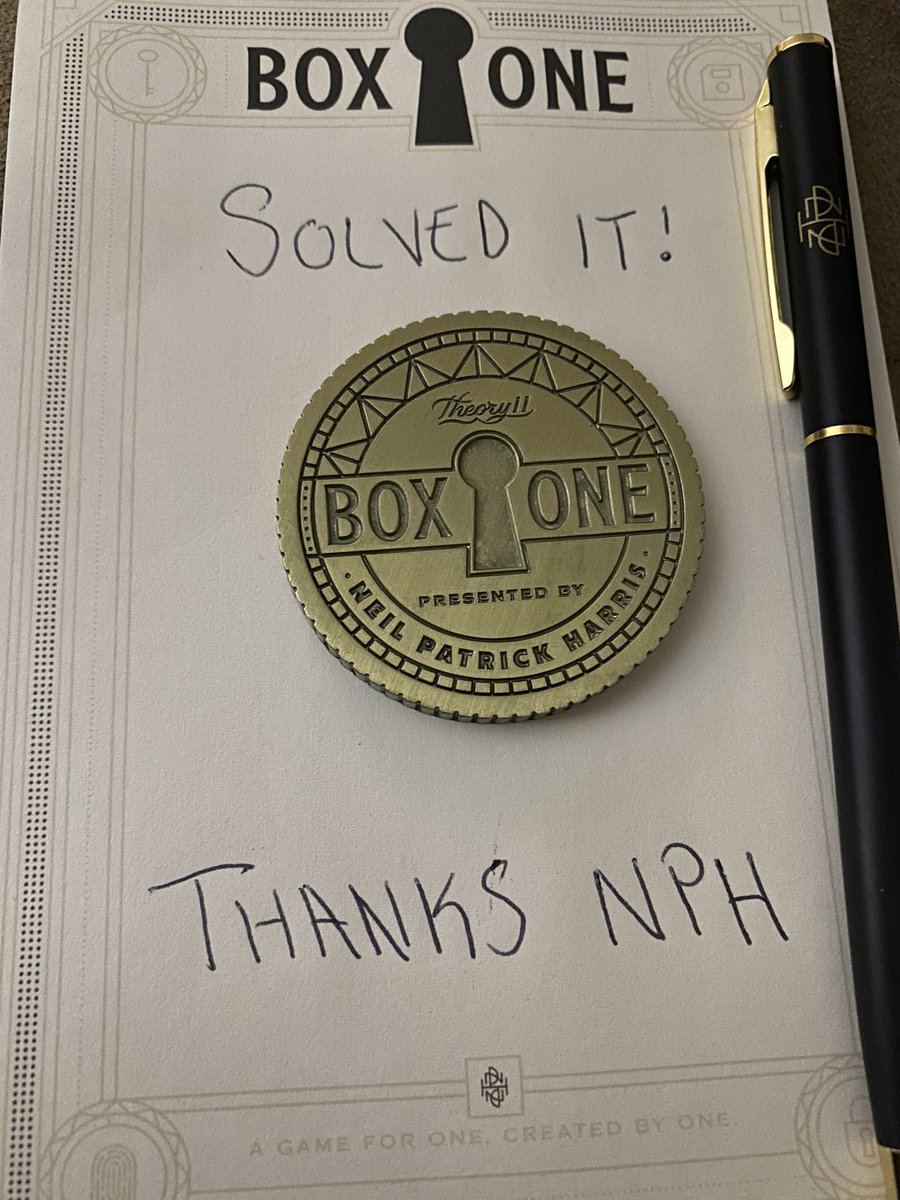 Solved it! Amazing work! @ActuallyNPH @theory11  #BoxOne