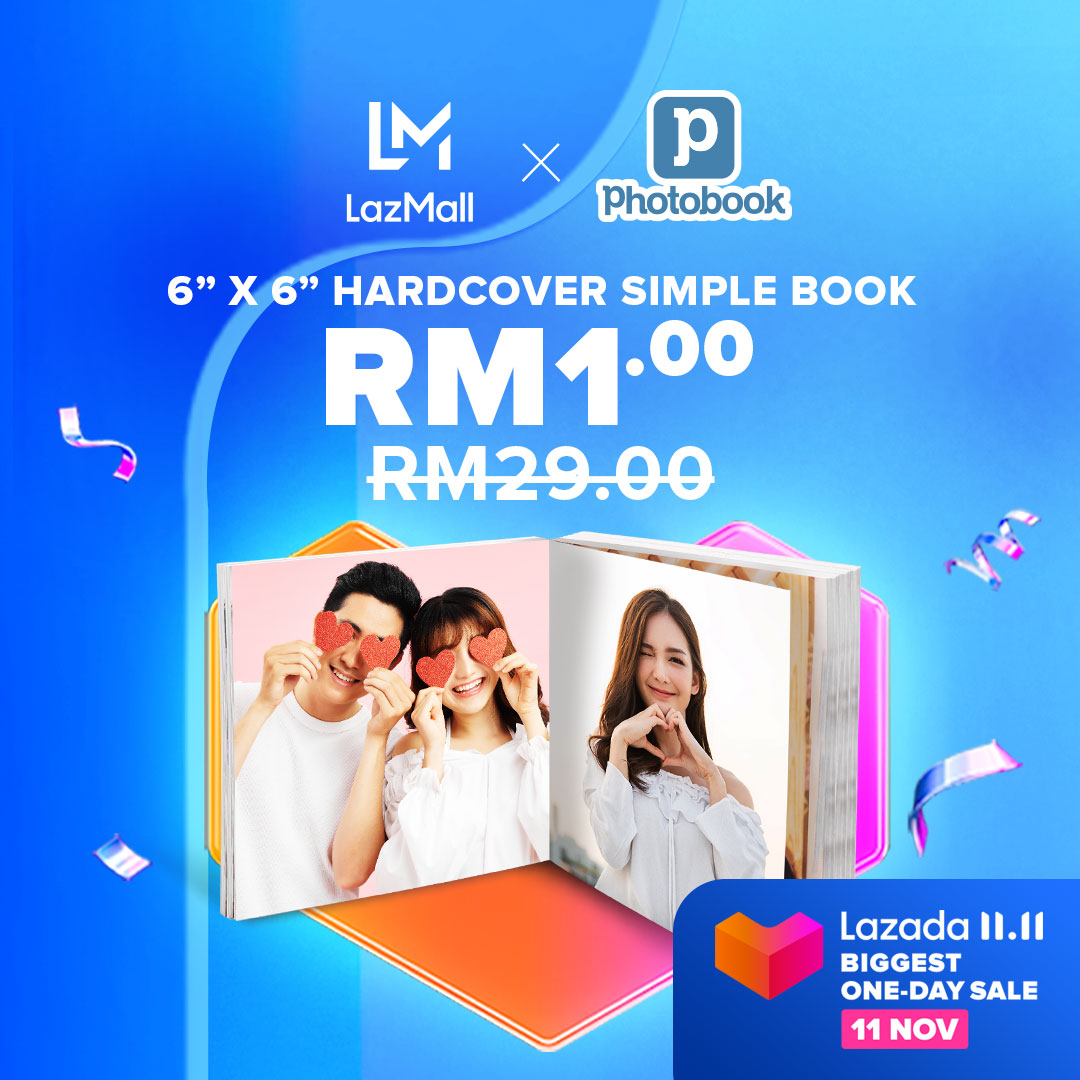 Personalized photobook is one of the best memorable gift for your loved ones! If you are looking to DIY your own photobook, on 11.11, Photobook is having up to 90% Off discount with us on #LazadaBiggestOneDaySale!  Add to cart here: https://t.co/yFzWjAxqJs https://t.co/s0Tf9JTUoR