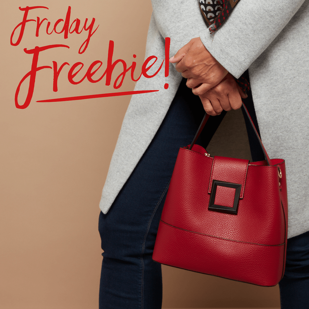 Its Friday Freebie time! #fridayfreebie Take a cue from Ms. Claus Retweet or comment for you chance to win this Christmas inspired handbag! Cant wait to win? Shop now: bit.ly/2Hew2Ip Ends 13/11 12pm. T&Cs: bit.ly/2d3zwey