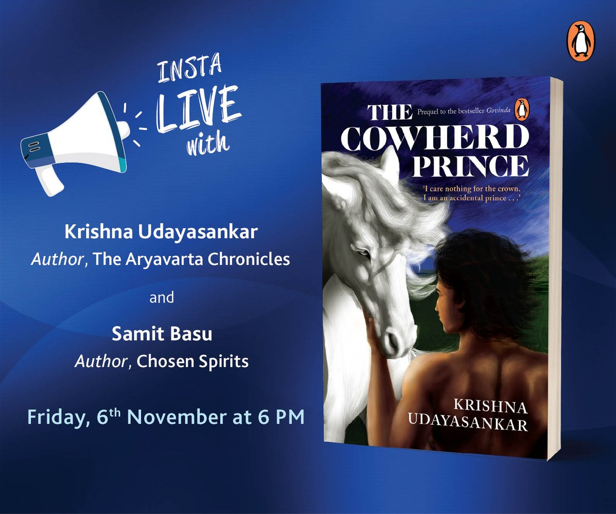 This evening on Instagram!   #ChosenSpirits #TheCowherdPrince  @samitbasu