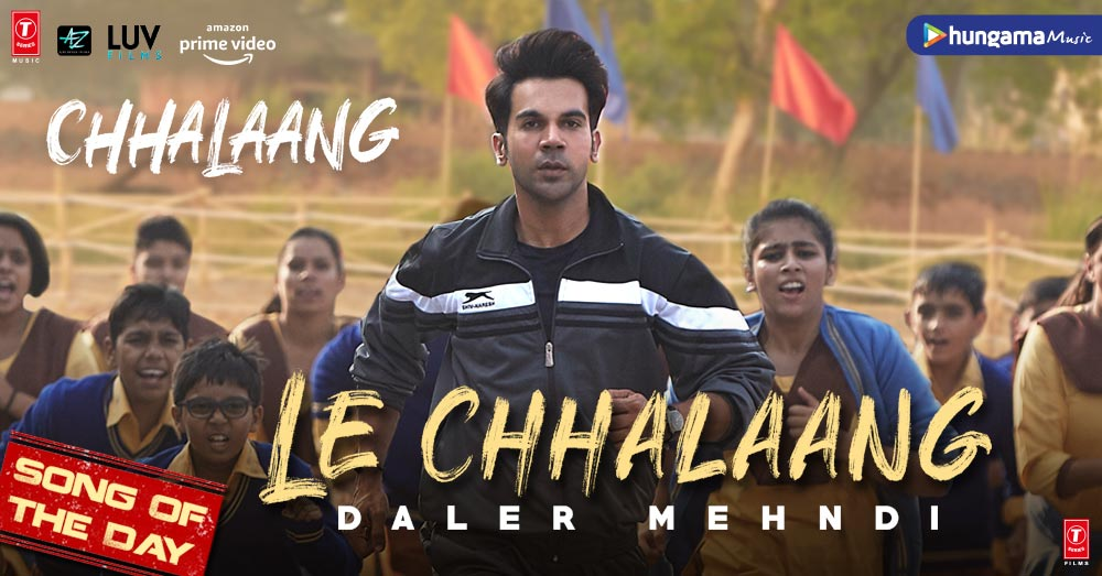 .@dalermehndi 's voice can pump up any soul to get up & work hard in life. And he delivers this yet again in the title track #LeChhalaang Penned by @luv_ranjan himself, this song makes us even more eager to watch @Rajkummarrao's performance in the film ->